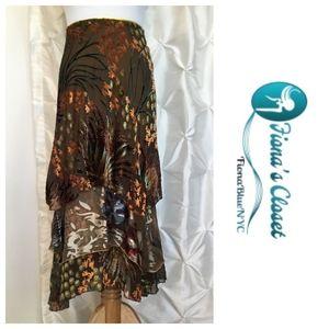 Velvet Burn-Out Silk Skirt